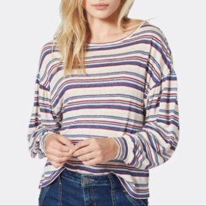 Joie 100% linen Perrie Striped Top